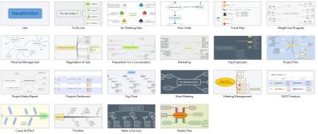 Screenshot-Xmind-Formatvorlagen